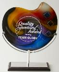 Bézier Art Glass Award w/Stand