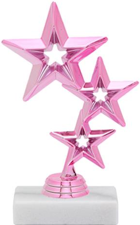 Pretty in Pink Star Figure Trophy